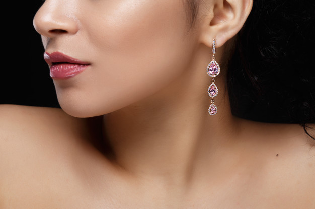 Pendiente de perlas clasico